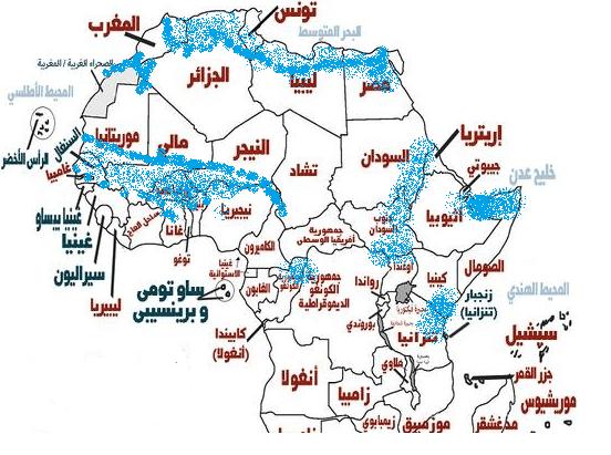 خريطة انتشار الكوبرا المصرية