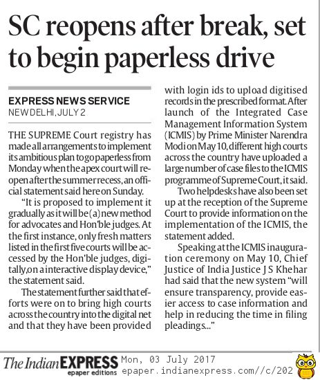 INDIAN EXPRESS NEWSPAPER