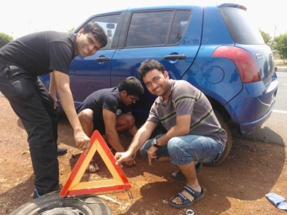 Men at work!