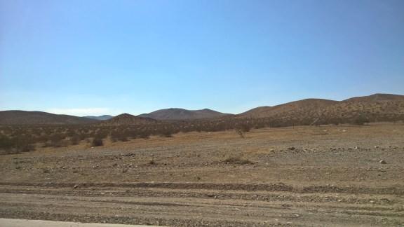 Driving across the desert