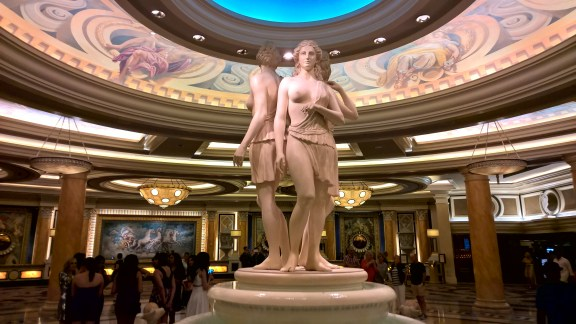 Sculptures inside Caesar's palace