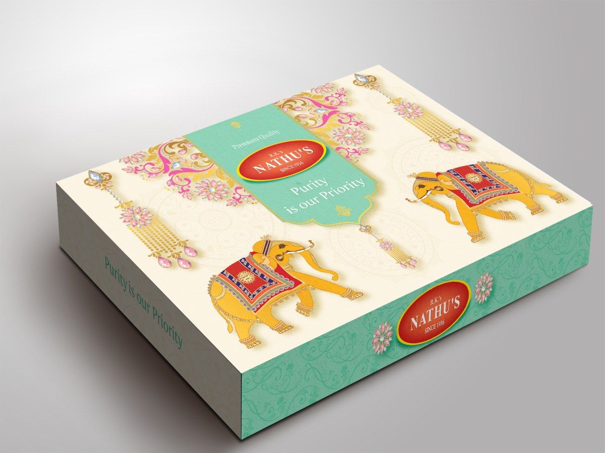 Nathu's Packaging design | Creative Traditional Mithai Box | Sweets India