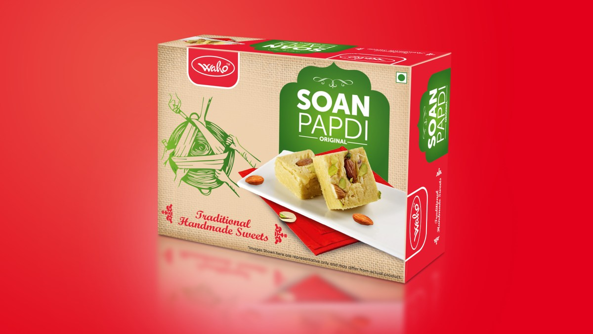 Soan Papdi Packing , Creative Design | Traditional mithai boxes India