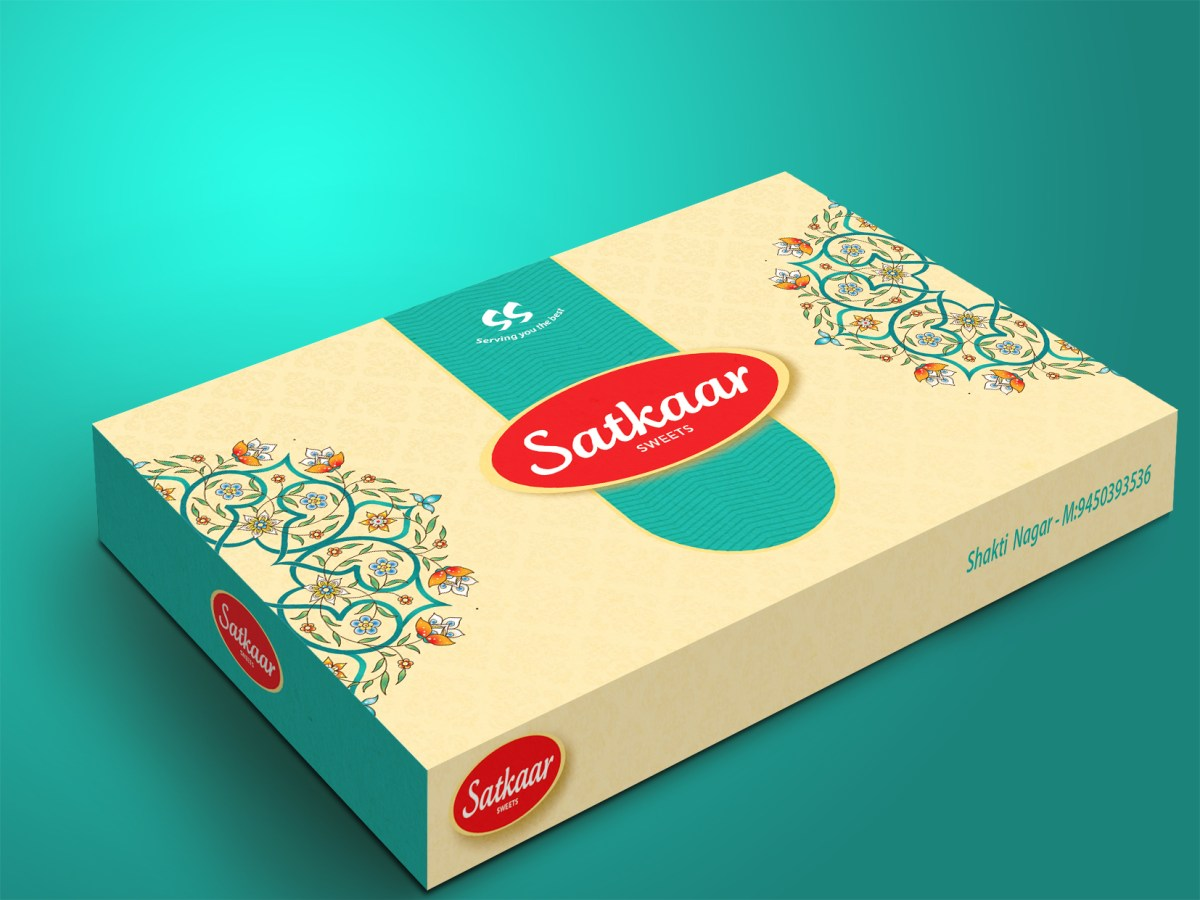 Mithai box design | Traditional Delhi Packaging | Sweets