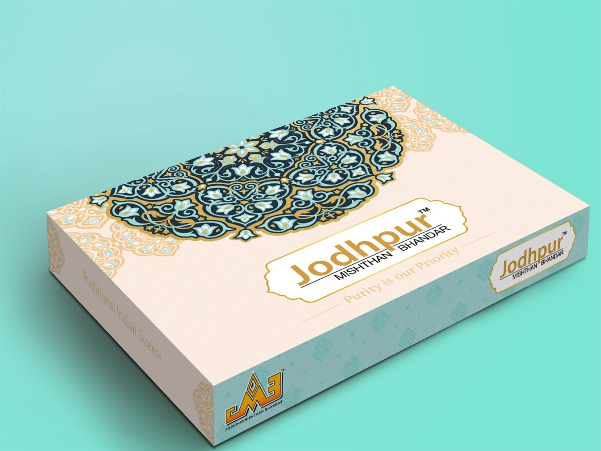 Jodhpur Sweet Box Design Concept , Box Branding and Design