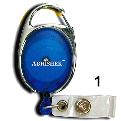 Blue Retractor for id card in Regular thread quality in Oval shape for executive, professional and business use. It can also be hanged along with the belt