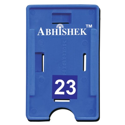 Double Hole Insert Holder of size 54x86 mm in Dark Blue Colour and Both OrientationIt is ideal for business, schools and organization for all there ID card needs. Not only it protects the keep the id cards safe but also provides high branding value and p