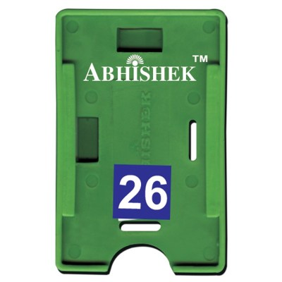 Double Hole Insert Holder of size 54x86 mm in Green Colour and Both OrientationIt is ideal for business, schools and organization for all there ID card needs. Not only it protects the keep the id cards safe but also provides high branding value and perso