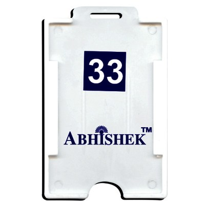 Two Side Insert Holder of size 54x86 mm in White Colour and Vertical OrientationIt is ideal for business, schools and organization for all there ID card needs. Not only it protects the keep the id cards safe but also provides high branding value and pers