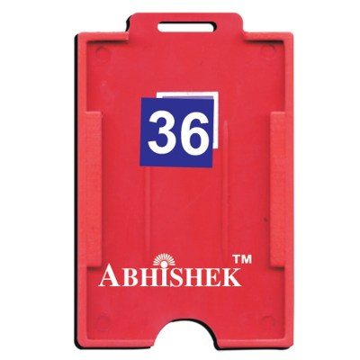 Two Side Insert Holder of size 54x86 mm in Red Colour and Vertical OrientationIt is ideal for business, schools and organization for all there ID card needs. Not only it protects the keep the id cards safe but also provides high branding value and person