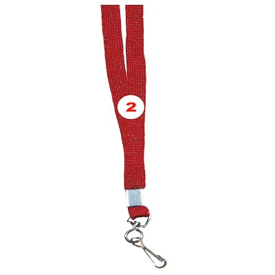 Maroon Colour Sleeve Tags with Hook Attachement type. 16 Inches in Length and 12 mm wide. Printable with multiple colours with custom logo and names