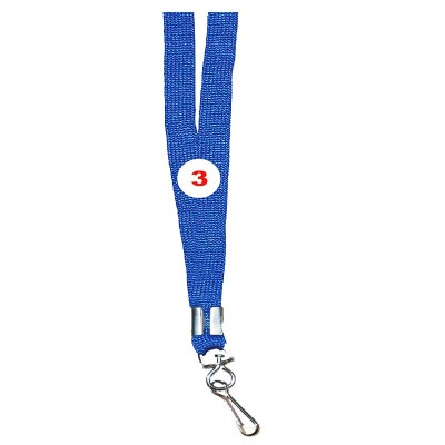 Light Blue Colour Sleeve Tags with Hook Attachement type. 16 Inches in Length and 12 mm wide. Printable with multiple colours with custom logo and names