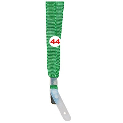 Parrot Green Colour Flat Tags with Clip Attachement type. 16 Inches in Length and 14 mm wide. Printable with multiple colours with custom logo and names