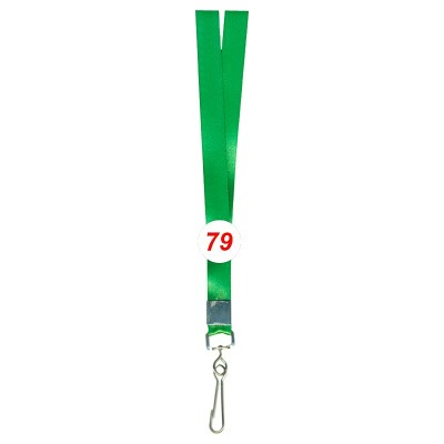 Parrot Green Colour Shine Tags with Hook Attachement type. 16 Inches in Length and 20 mm wide. Printable with multiple colours with custom logo and names
