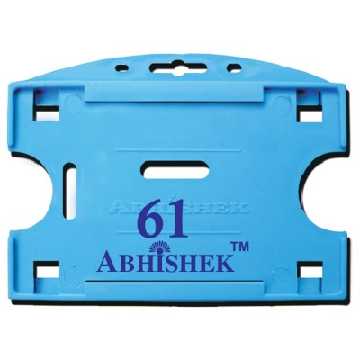 Double Hole Insert Holder of size 54x86 mm in Light Blue Colour and Horizontal OrientationIt is ideal for business, schools and organization for all there ID card needs. Not only it protects the keep the id cards safe but also provides high branding valu
