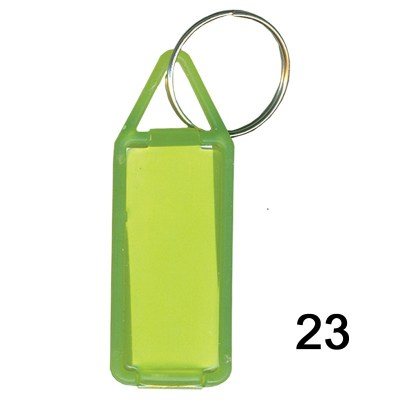 Green key chain of size 17x41 mm in Rectangle  shape designed for id card holder, company event or school custom logo. Fully customizable and personalized with thousands of designs and prints  You may also refer keychains as ket tags, key rings, id card