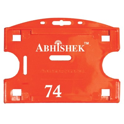 Double Hole Insert Holder of size 54x86 mm in Red Colour and Horizontal OrientationIt is ideal for business, schools and organization for all there ID card needs. Not only it protects the keep the id cards safe but also provides high branding value and p