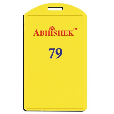 Single Side Pasting Holder of size 54x86 mm in Yellow Colour and Vertical OrientationIt is ideal for business, schools and organization for all there ID card needs. Not only it protects the keep the id cards safe but also provides high branding value and