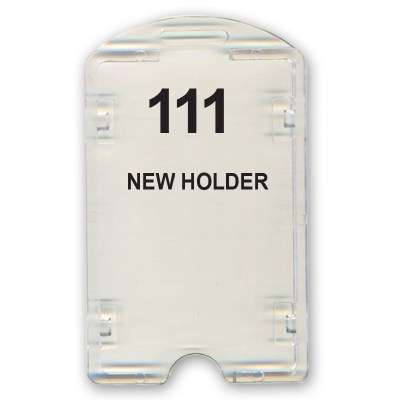 Crystal Holder of size 54x86 mm in Transparent Colour and Vertical OrientationIt is ideal for business, schools and organization for all there ID card needs. Not only it protects the keep the id cards safe but also provides high branding value and person