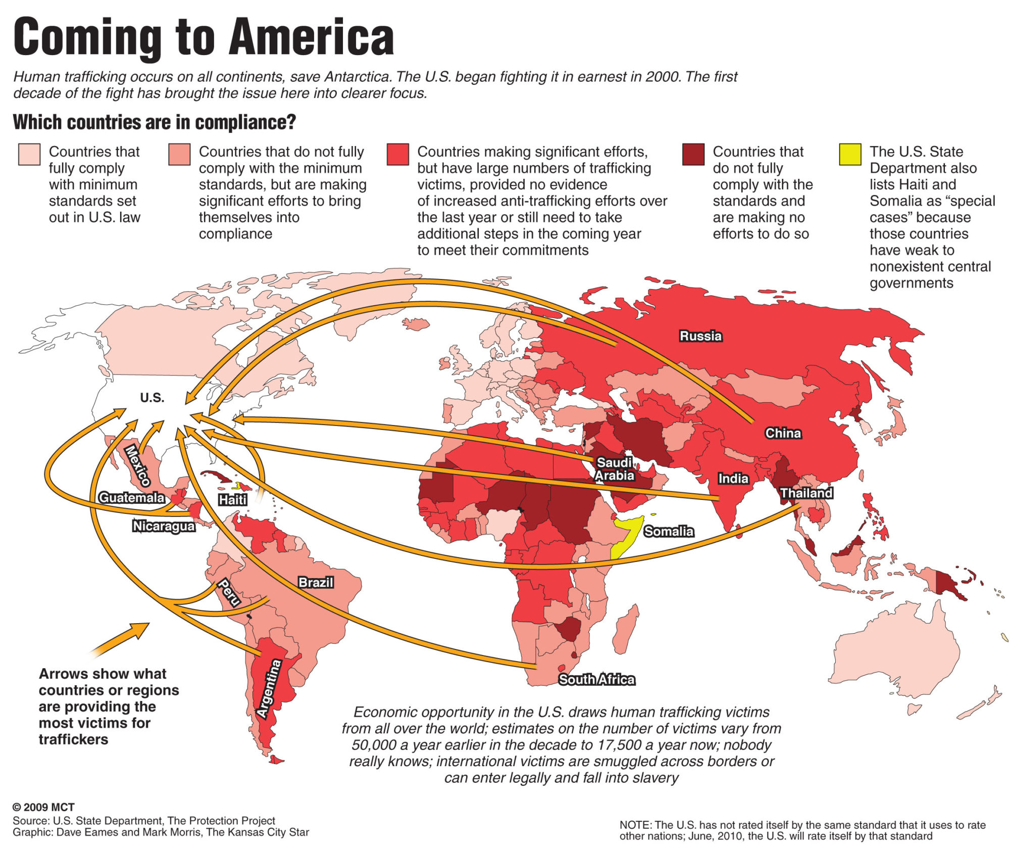 Maps and Statistics - Human Trafficking