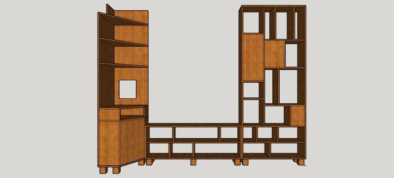 meubel kast ontwerp wandkast maatwerk massief eiken tv-kast tvkast tv-meubel tvmeubel nijmegen gelderland honig smeltkroes meubelmaker ontwerp design