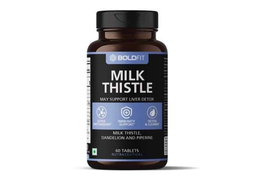 Boldfit milk thistle supplement for liver support and liver detox