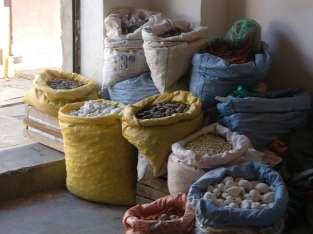 Sacs à merveilles du marché d'Uyuni, plein de fruits et de légumes nouveaux pour nous, grand bazard coloré...