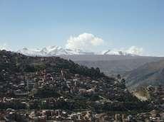 Vue incroyable sur La Paz depuis le bord du plateau où est construit El Alto