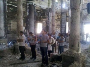 Coptic Church destroyed