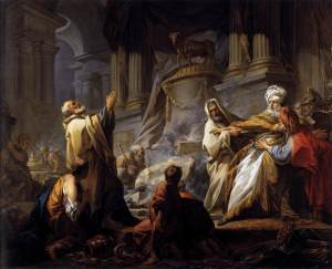 Jeroboam Offering Sacrifice by Jean Honoré Fragonard