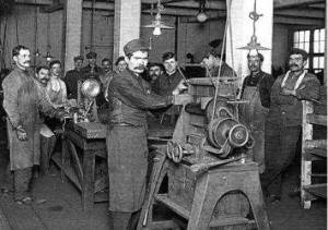 Men in Factories 1800s