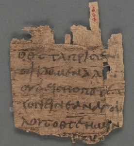 Papyrus 9, 1 John, 4,11–12,14–17 - recto