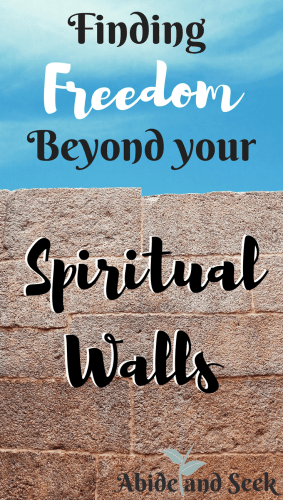 Finding God's Freedom Beyond Your Spiritual Walls Picture.