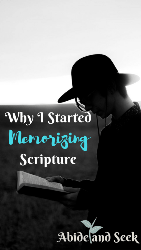 Why I Started Memorizing Scripture picture.