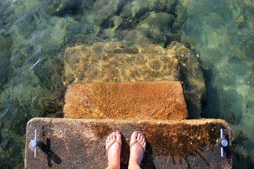 Feet in water picture