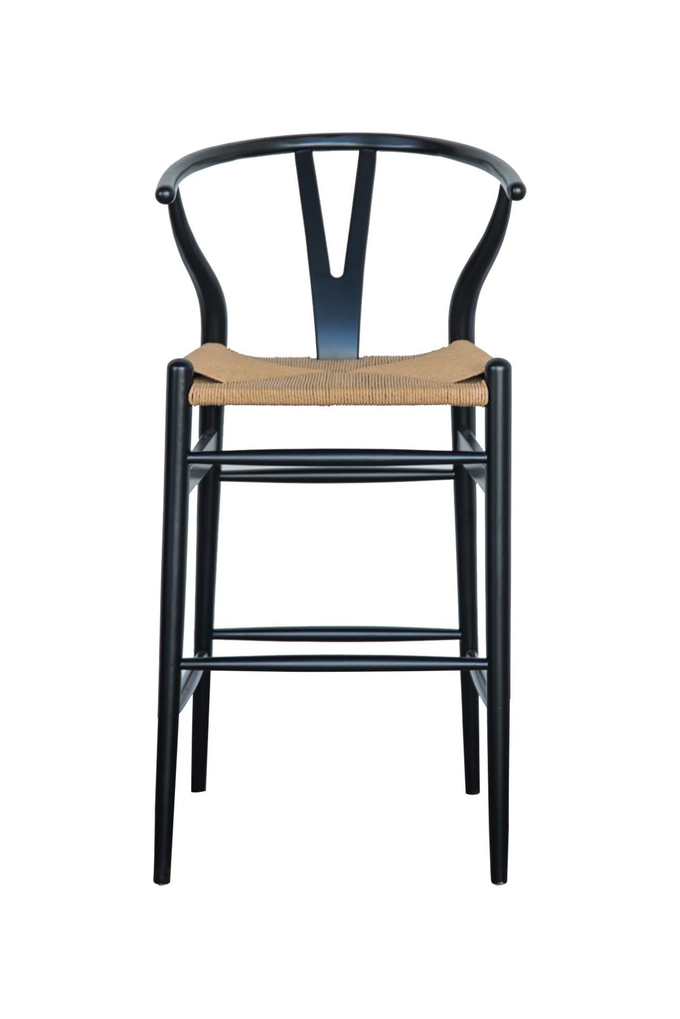 white wishbone chair replica comfortable patio chairs bar stool – white, beech, chestnut and black abide interiors