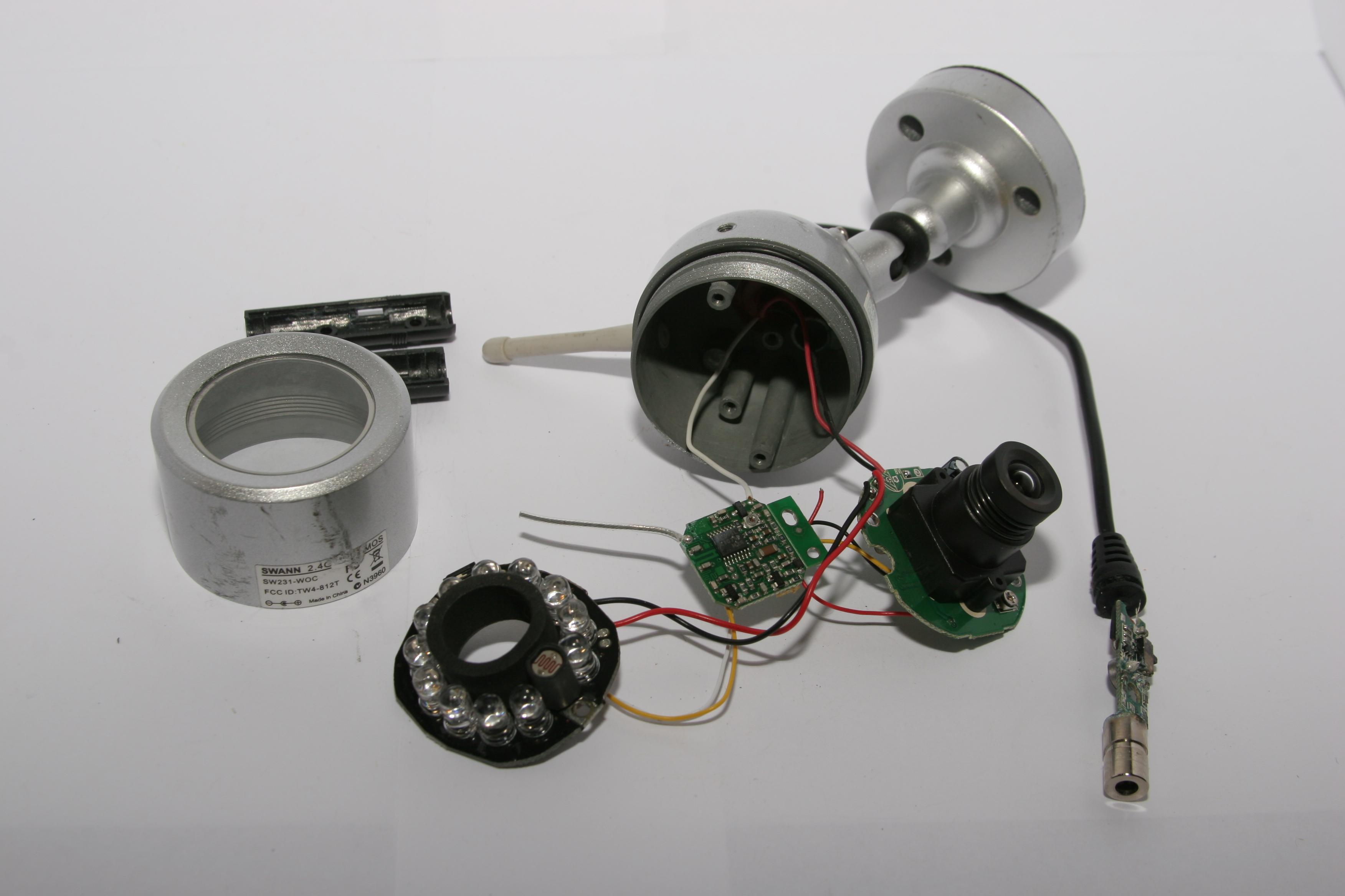 security camera wiring diagram flat 4 trailer plug teardown swann night hawk wireless