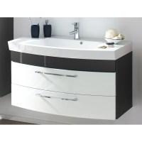 Badezimmer Waschtisch Mit Unterschrank Rimao100 Hochglanz ...