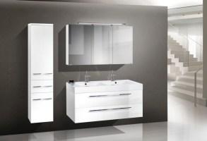 Design Badmöbel Set 120 Cm Doppelwaschtisch Designbaeder ...