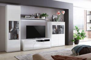 Ideal Möbel Wohnwand Taviano K35 Weiß Marmor Möbel Letz ...