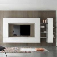 Wohnwände Online Vergleichen von Wohnwand Weiß Hochglanz ...