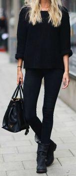 Black on black on black street style
