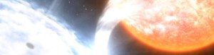 Accreting black hole binary, via NASA