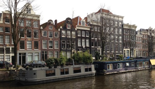 Amsterdam canal houses Holland Netherlands
