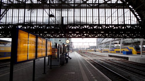 Amsterdam Centraal train station Holland Netherlands