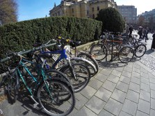 Bicycles at National Theatre Station.