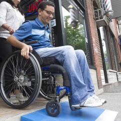 Wheelchair Man Chair Gym Leg Exercises With Disability Building Free Ramps For Montreal Businesses