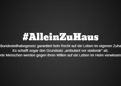 #AlleinZuHaus