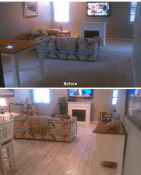 before after carpet to hardwood living room 1 - Ability ...