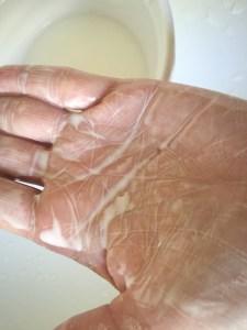 paste should look something like this. feels like velvet on the skin. so soft..